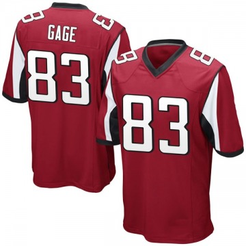 Youth Nike Atlanta Falcons Russell Gage Red Team Color Jersey - Game