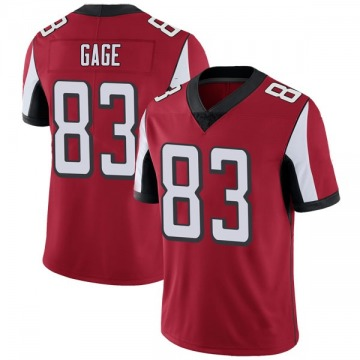 Youth Nike Atlanta Falcons Russell Gage Red Team Color Vapor Untouchable Jersey - Limited