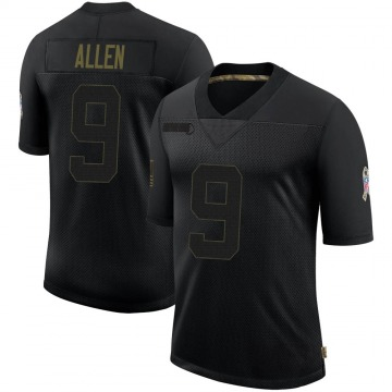 Youth Nike Atlanta Falcons Ryan Allen Black 2020 Salute To Service Jersey - Limited