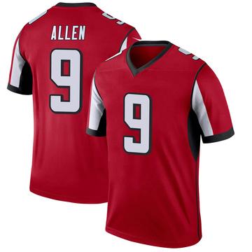 Youth Nike Atlanta Falcons Ryan Allen Red Jersey - Legend