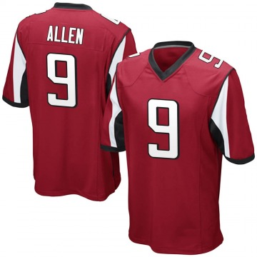 Youth Nike Atlanta Falcons Ryan Allen Red Team Color Jersey - Game
