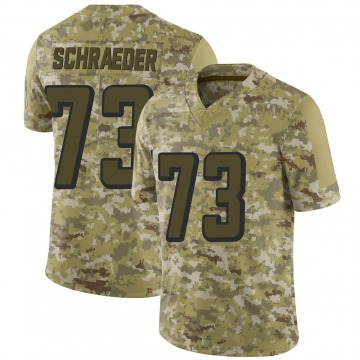 Youth Nike Atlanta Falcons Ryan Schraeder Camo 2018 Salute to Service Jersey - Limited