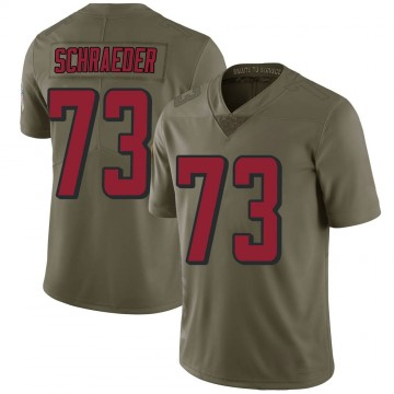 Youth Nike Atlanta Falcons Ryan Schraeder Green 2017 Salute to Service Jersey - Limited