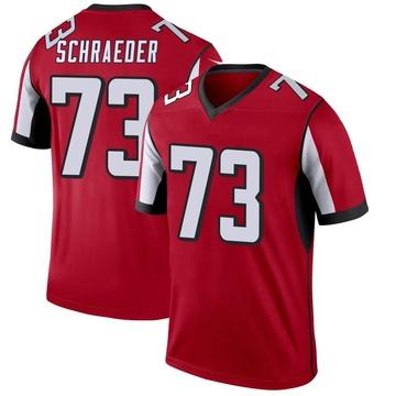 Youth Nike Atlanta Falcons Ryan Schraeder Red Jersey - Legend
