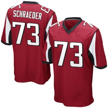 Youth Nike Atlanta Falcons Ryan Schraeder Red Team Color Jersey - Game