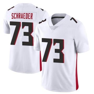 Youth Nike Atlanta Falcons Ryan Schraeder White Vapor Untouchable Jersey - Limited