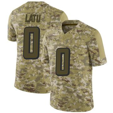 Youth Nike Atlanta Falcons Sailosi Latu Camo 2018 Salute to Service Jersey - Limited