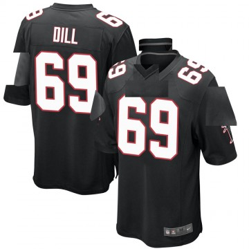 Youth Nike Atlanta Falcons Scottie Dill Black Alternate Jersey - Game