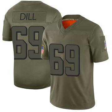 Youth Nike Atlanta Falcons Scottie Dill Camo 2019 Salute to Service Jersey - Limited