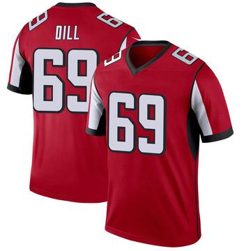 Youth Nike Atlanta Falcons Scottie Dill Red Jersey - Legend