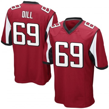 Youth Nike Atlanta Falcons Scottie Dill Red Team Color Jersey - Game