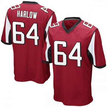 Youth Nike Atlanta Falcons Sean Harlow Red Team Color Jersey - Game