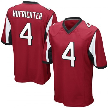 Youth Nike Atlanta Falcons Sterling Hofrichter Red Team Color Jersey - Game
