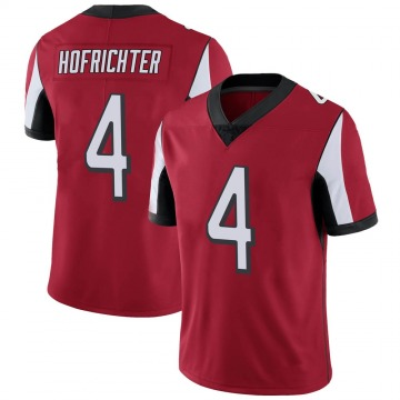 Youth Nike Atlanta Falcons Sterling Hofrichter Red Team Color Vapor Untouchable Jersey - Limited