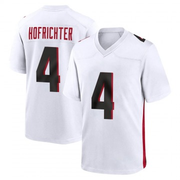 Youth Nike Atlanta Falcons Sterling Hofrichter White Jersey - Game