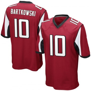 Youth Nike Atlanta Falcons Steve Bartkowski Red Team Color Jersey - Game