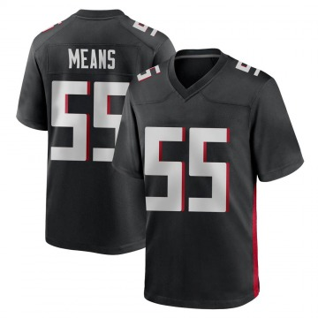 Youth Nike Atlanta Falcons Steven Means Black Alternate Jersey - Game