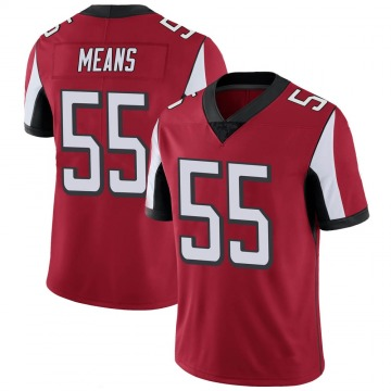 Youth Nike Atlanta Falcons Steven Means Red 100th Vapor Jersey - Limited