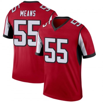 Youth Nike Atlanta Falcons Steven Means Red Jersey - Legend