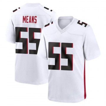 Youth Nike Atlanta Falcons Steven Means White Jersey - Game
