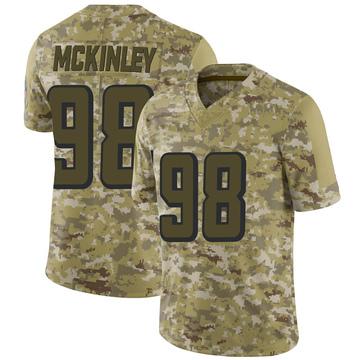 Youth Nike Atlanta Falcons Takkarist McKinley Camo 2018 Salute to Service Jersey - Limited