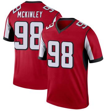 Youth Nike Atlanta Falcons Takkarist McKinley Red Jersey - Legend