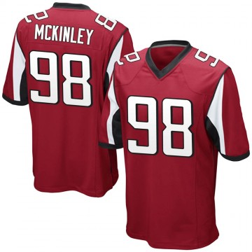 Youth Nike Atlanta Falcons Takkarist McKinley Red Team Color Jersey - Game