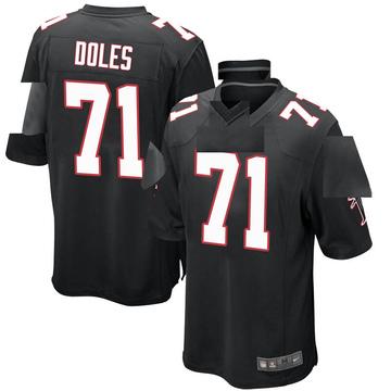 Youth Nike Atlanta Falcons Tommy Doles Black Alternate Jersey - Game