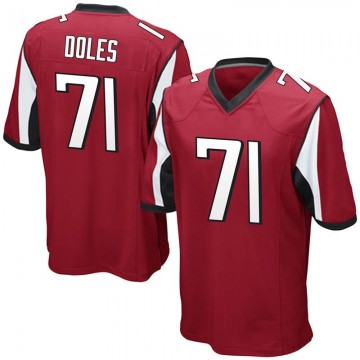 Youth Nike Atlanta Falcons Tommy Doles Red Team Color Jersey - Game