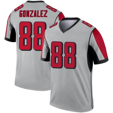 Youth Nike Atlanta Falcons Tony Gonzalez Inverted Silver Jersey - Legend