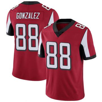 Youth Nike Atlanta Falcons Tony Gonzalez Red 100th Vapor Jersey - Limited