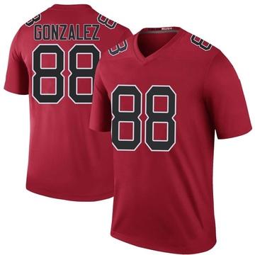 Youth Nike Atlanta Falcons Tony Gonzalez Red Color Rush Jersey - Legend