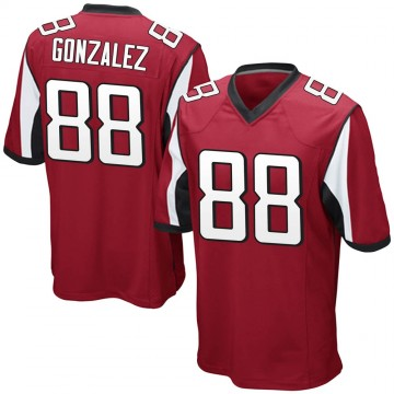 Youth Nike Atlanta Falcons Tony Gonzalez Red Team Color Jersey - Game