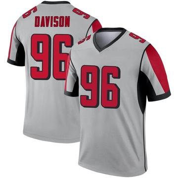 Youth Nike Atlanta Falcons Tyeler Davison Inverted Silver Jersey - Legend