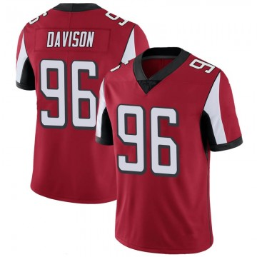 Youth Nike Atlanta Falcons Tyeler Davison Red 100th Vapor Jersey - Limited