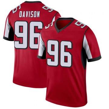 Youth Nike Atlanta Falcons Tyeler Davison Red Jersey - Legend