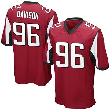 Youth Nike Atlanta Falcons Tyeler Davison Red Team Color Jersey - Game
