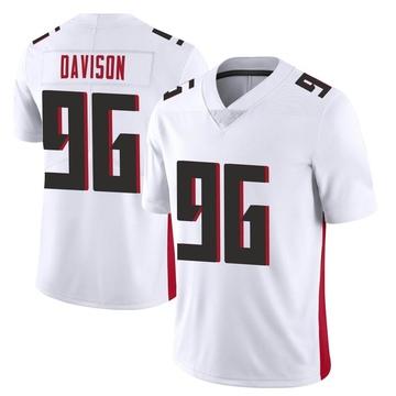 Youth Nike Atlanta Falcons Tyeler Davison White Vapor Untouchable Jersey - Limited