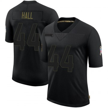 Youth Atlanta Falcons Tyler Hall Black 2020 Salute To Service Jersey - Limited