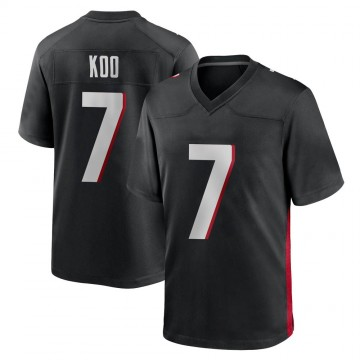Youth Nike Atlanta Falcons Younghoe Koo Black Alternate Jersey - Game
