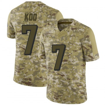 Youth Atlanta Falcons Younghoe Koo Camo 2018 Salute to Service Jersey - Limited
