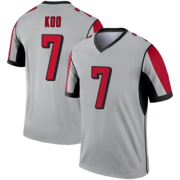 Youth Nike Atlanta Falcons Younghoe Koo Inverted Silver Jersey - Legend
